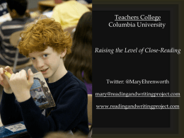 Raising the Level of Close-Reading