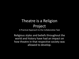 Theatre Religion Project