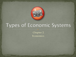 Types of Economic Systems - Richmond Heights Schools