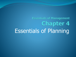 4. Essentials of Planning. - NMHU International Business Consulting