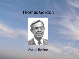 Thomas Gordon Complete Project
