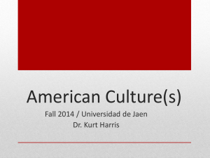 Sept. 18 Lecture - american culture(s)
