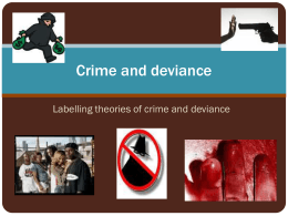 Lesson 5 – Labelling Theory