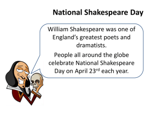 National Shakespeare Day Activity