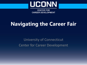 Navigating A Career Fair 101 - UConn Center for Career Development
