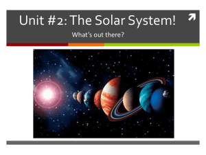 The Solar System! - Your Science Classes & Dance Club Website!