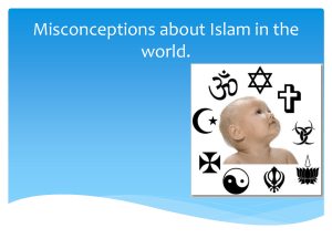 Misconceptions about Islam in the world