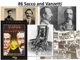 Sacco and Vanzetti - Point Loma High School