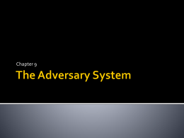 The Adversary System - LegalStudiesYr12LSC