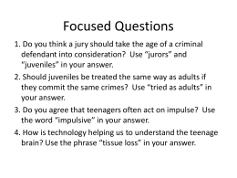 2014 Focused Questions to post