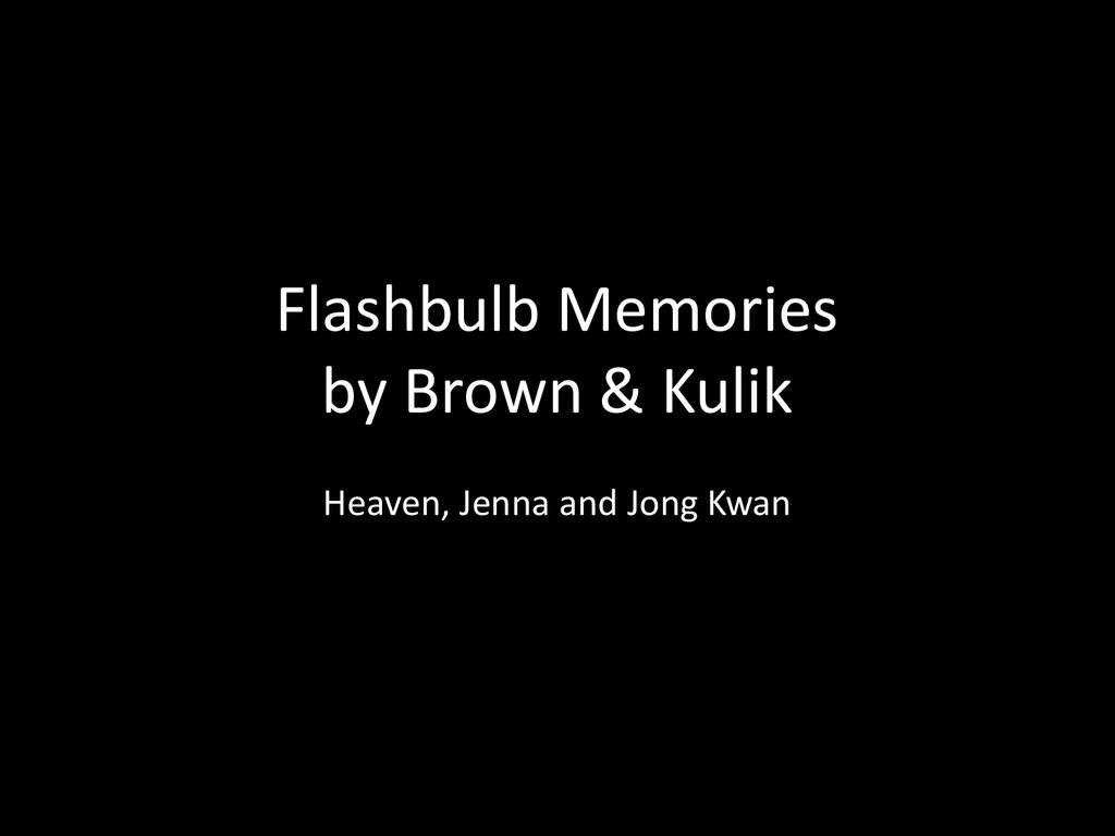 flashbulb memory theory