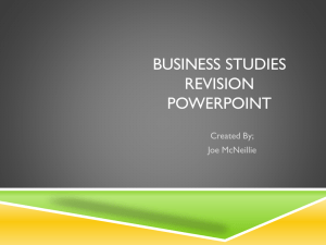 Business Studies Revision PowerPoint