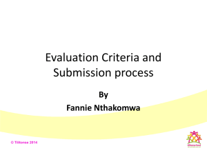 Evaluation criteria and submission process 25.02.14