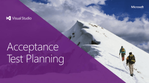 Acceptance Test Planning - Planning Services