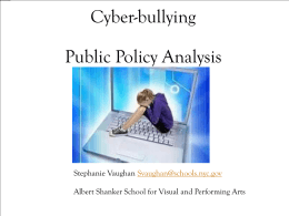 Cyber-bullying Public Policy Analysis