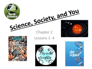 Science, Society and You
