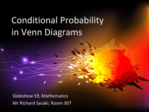 Conditional Probability in Venn Diagrams