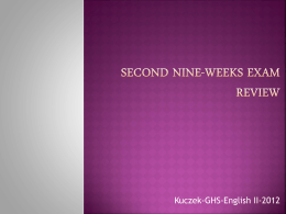 Second Nine-weeks Exam review