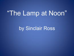 the lamp at noon