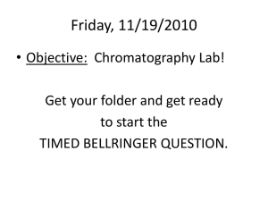 Paper Chromatography Lab Powerpoint