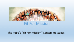 File - Fit for Mission