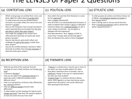 The LENSES of Paper 2 Questions