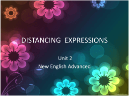DISTANCING EXPRESSIONS