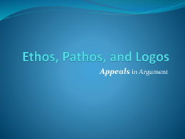 what is one way to appeal to ethos answers