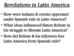 Revolutions in Latin America