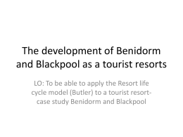 The development of Benidorm as a tourist resort