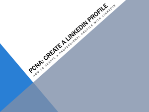 PCNA: CREATE A LINKEDIN PROFILE