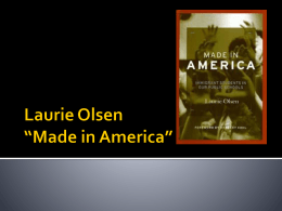 Laurie Olsen *Made in America*