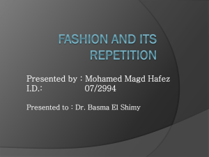 Fashion`s repetition - talking
