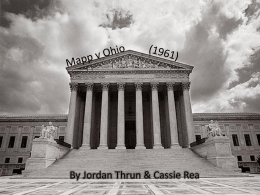 Mapp v Ohio – Jordan T and Cassie R