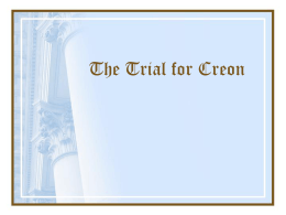 The Trial for Creon - Bibb County Schools