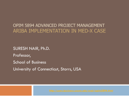 OPIM 5894 Advanced project management