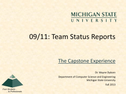 Team Status Report Template