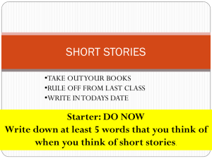 SHORT STORIES Intro 08.02.09