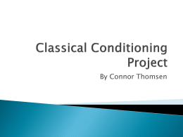 Classical Conditioning Project - plsdzoo-ct