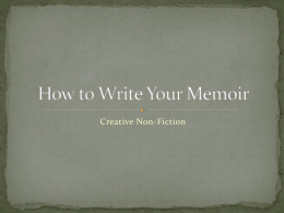 How to Write Your Memoir
