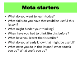 Meta starters - Suffolk Maths