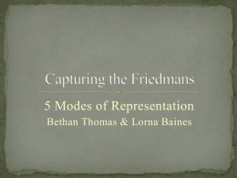 Capturing the Friedmans presentation