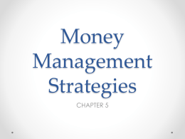 Money Management Strategies