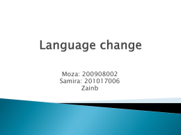 Reasons for language change