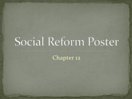 Social Reform Poster Activity