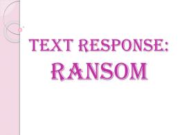 ransom david malouf chapter summary
