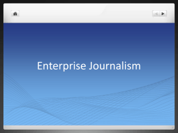 Enterprise Journalism