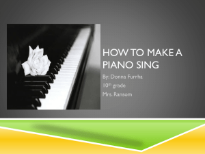 HOW TO MAKE A PIANO SING