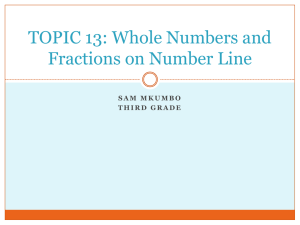 Whole Numbers and Fractions on Number Line
