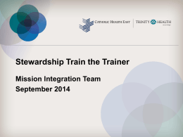 Stewardship Train the Trainer